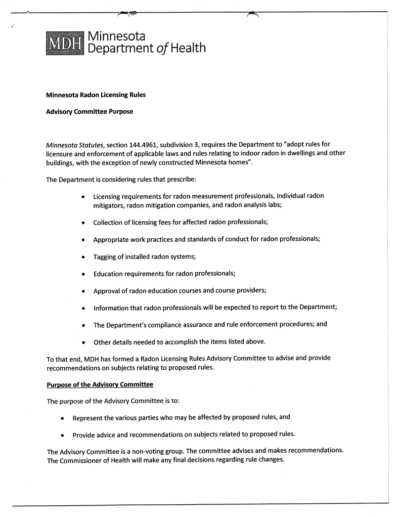 MN Radon Licensing Rules-Advisory Committee Purpose_Page_1